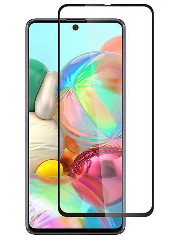Противоударное стекло Innovation для Samsung A91 2D Full Glue Black 16908