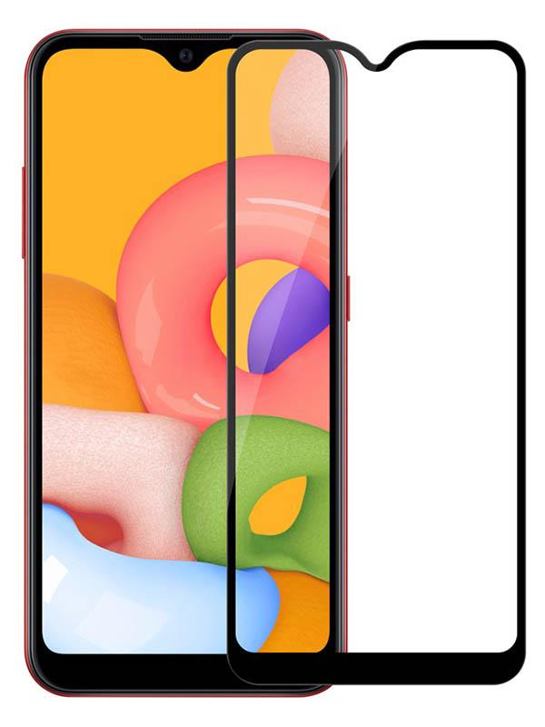 Противоударное стекло Innovation для Samsung A01 2D Full Glue Black 16881