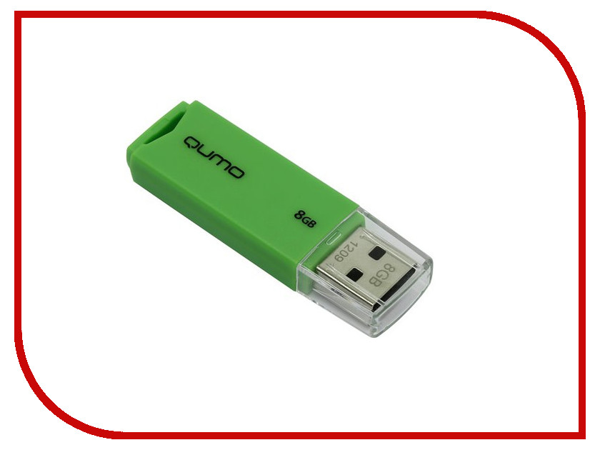 USB Flash Drive 8Gb - Qumo Tropic Green QM8GUD-TRP-Green отзывы 8gb iriver s100