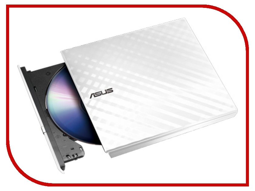 Привод ASUS SDRW-08D2S-U LITE White T49769 оптический привод для ноутбука asus sdrw 08d2s u lite usb 2 0 черный
