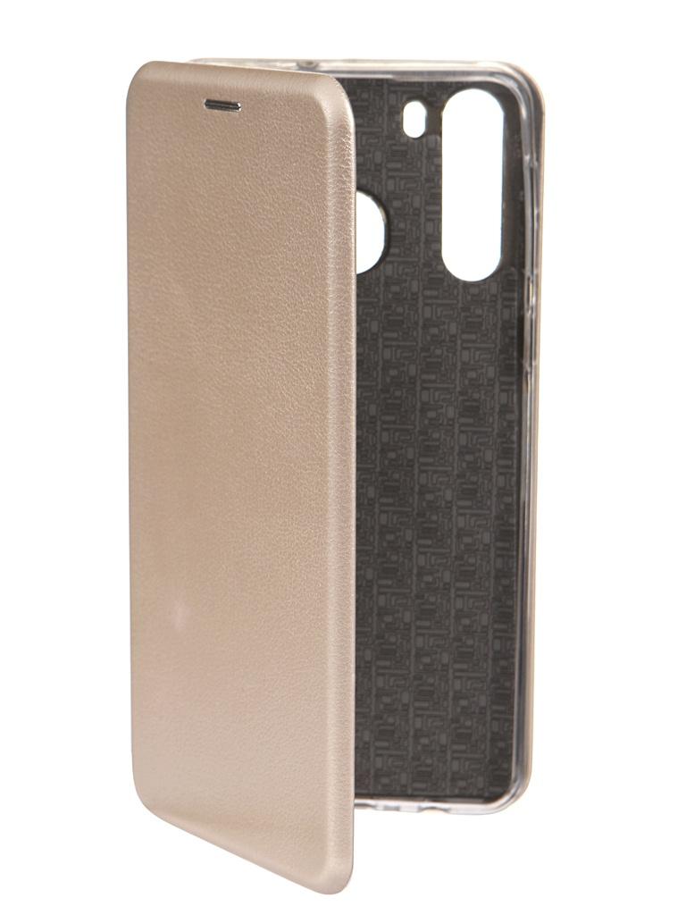 Чехол Innovation для Samsung Galaxy A21 Book Gold 17057