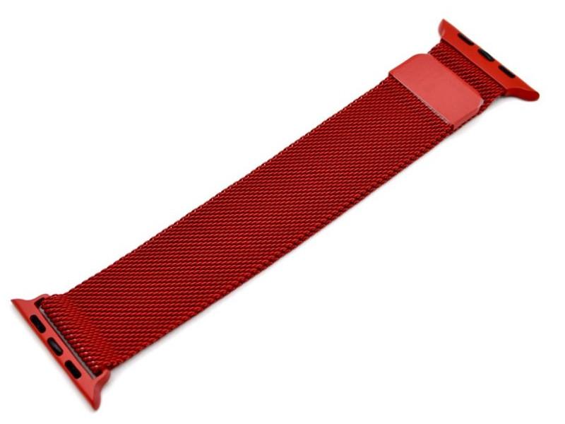 Аксессуар Ремешок Innovation для APPLE Watch 38/40mm Milanese Loop Red 14965