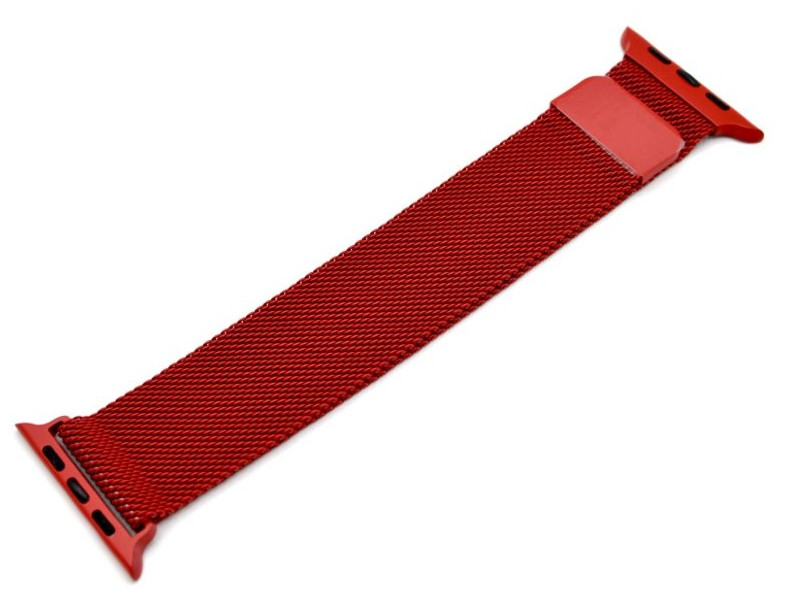 Аксессуар Ремешок Innovation для APPLE Watch 42/44mm Milanese Loop Red 14964
