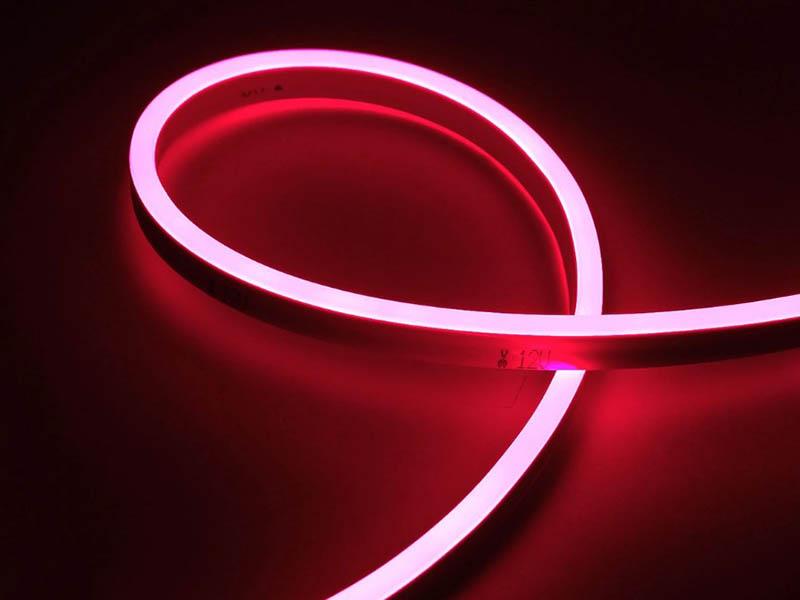 Светодиодная лента URM 2835-120led IP65 220V 10W 425Lm Pink 5m С26030