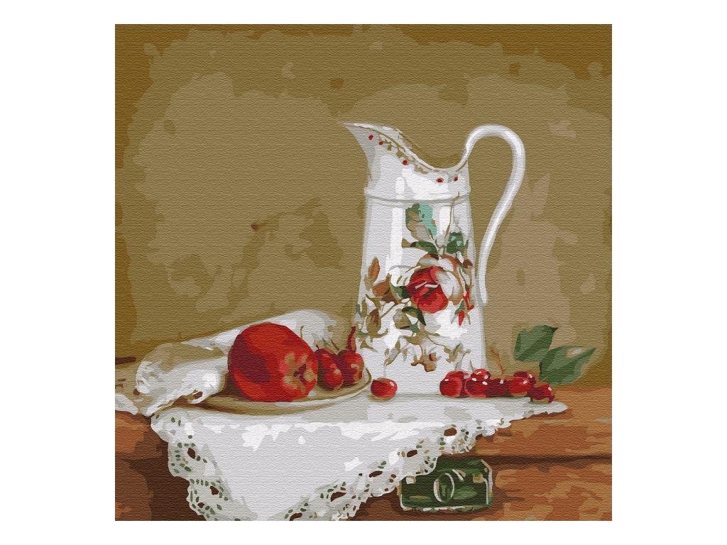 Картина по номерам SilverToys Бузин. Натюрморт с белым кувшином 30x30cm KH0730