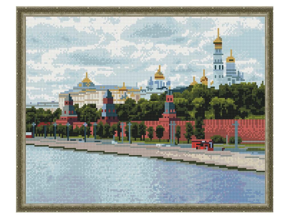 Набор для творчества Molly Картина мозаикой с нанесенной рамкой Москва Кремль 40х50cm KM0668