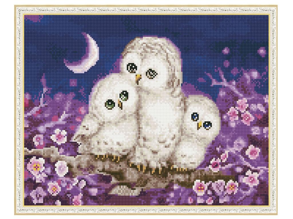 Набор для творчества Molly Картина мозаикой с нанесенной рамкой Ночные обитатели 40x50cm KM0817