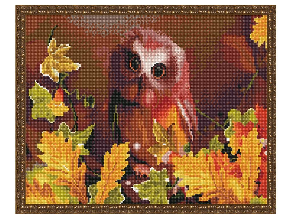 Набор для творчества Molly Картина мозаикой с нанесенной рамкой Сова осенью 40x50cm KM0865