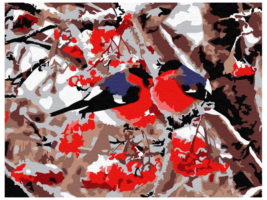 Картина по номерам Molly Снегири 15x20cm KH0755