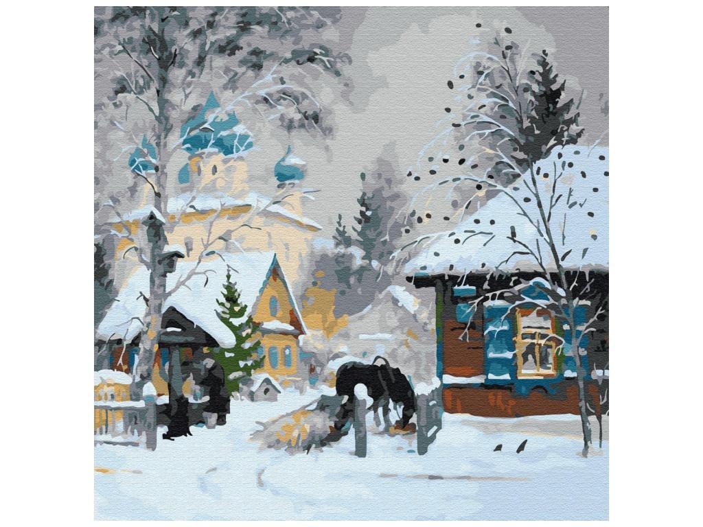 Картина по номерам Molly Зима в деревне 30x30cm KH0704