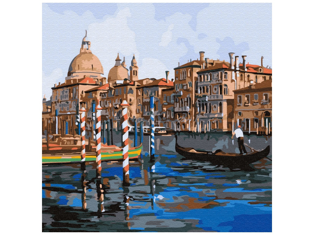 Картина по номерам Molly Каналы Венеции 30x30cm KH0719