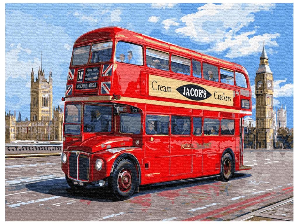 Картина по номерам Molly Автобус Лондона 30x40cm KK0650
