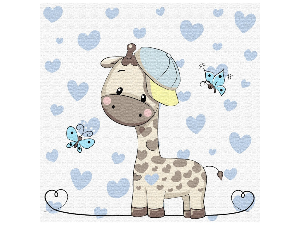 Картина по номерам Molly Маленький жираф 20x20cm KH0450