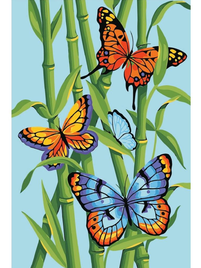 Картина по номерам Набор юного художника Molly Яркие бабочки 20x30cm KH0855