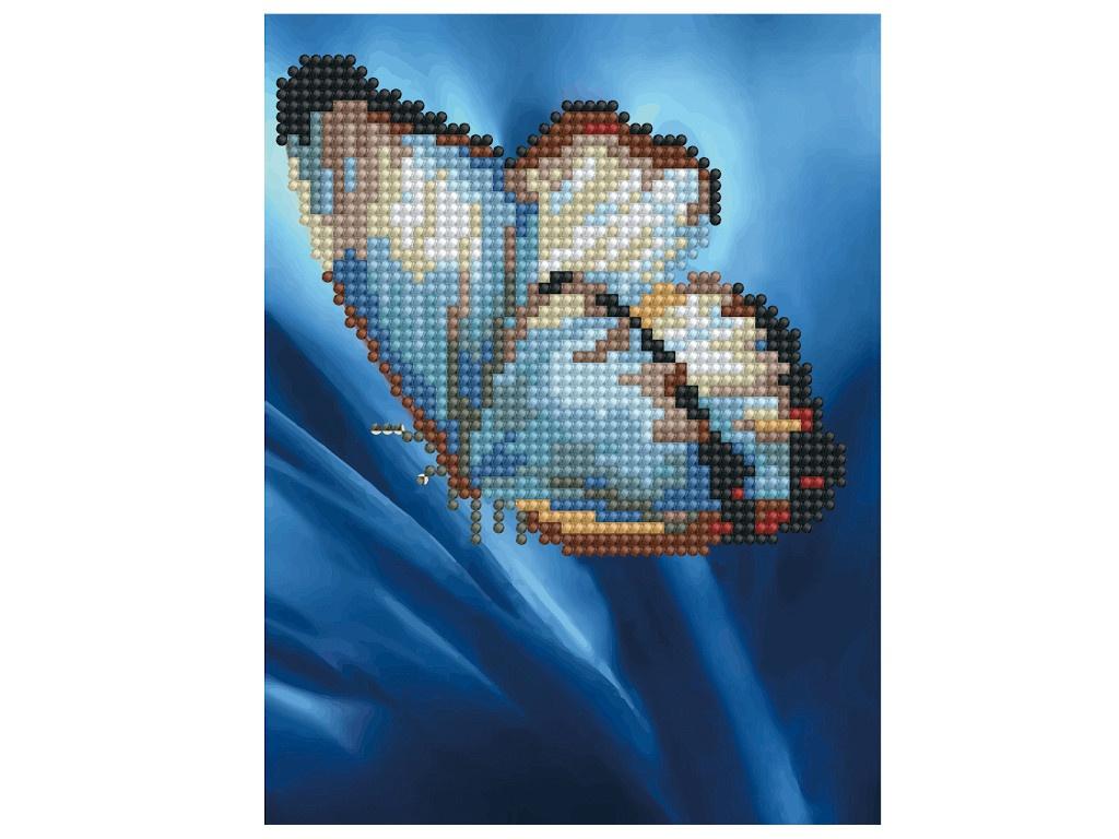 Набор для творчества Molly Картина мозаикой Бабочка на синем 15x20cm KM0734