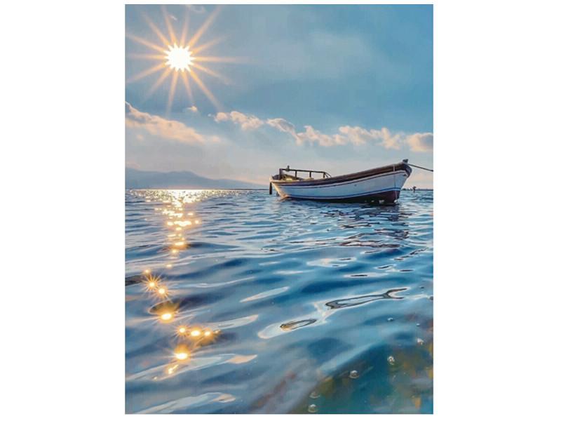 Набор для творчества Molly Картина мозаикой Лодка на рассвете 15x20cm KM0728