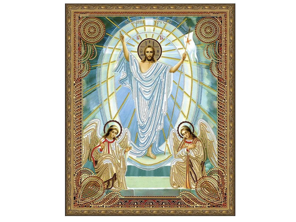 Набор для творчества Molly Картина 5D мозаика с нанесенной рамкой Воскресение Христово 40x50cm KM0717