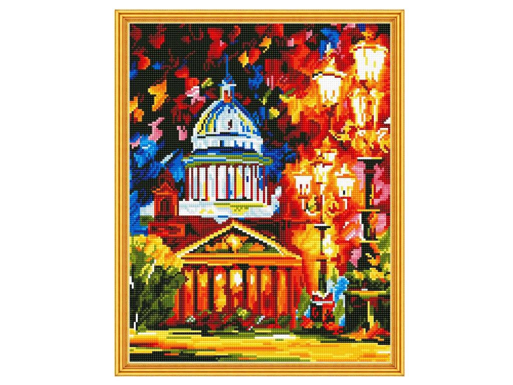Набор для творчества Molly Алмазная мозаика с нанесенной рамкой Самоцветы Афремов Исаакиевский собор 40x50cm KM0611