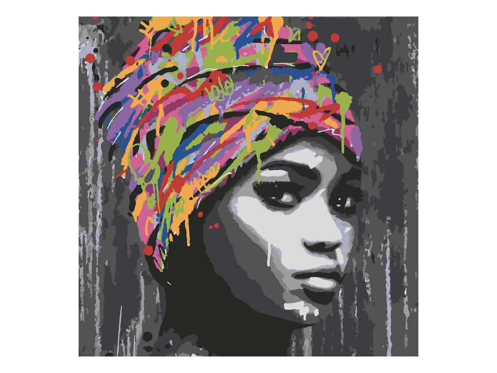 Картина по номерам Котеин Африканская девушка 30x30cm KHM0031