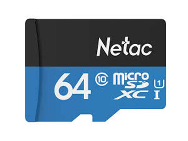 Фото - Карта памяти 64Gb - Netac microSDHC P500 NT02P500STN-064G-R с переходником под SD карта памяти netac nt02p500stn 016g s