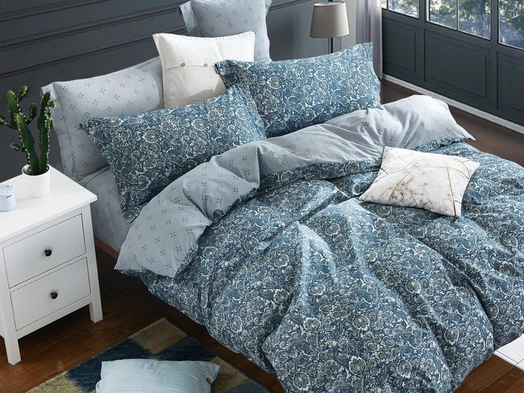 Постельное белье Cleo Satin Lux 40/497-SL Комплект Дуэт Сатин постельное белье cleo satin lux 15 321 sl комплект 1 5 спальный сатин