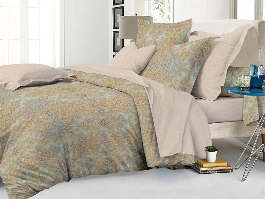 Постельное белье Cleo Satin Lux 15/474-SL Комплект 1.5 спальный Сатин