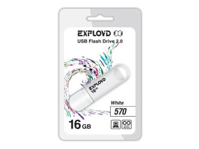 Фото - USB Flash Drive EXPLOYD 570 16GB White usb flash drive exployd 570 32gb red
