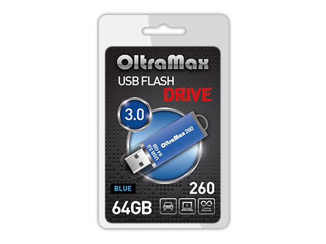 USB Flash Drive OltraMax 260 64GB Blue