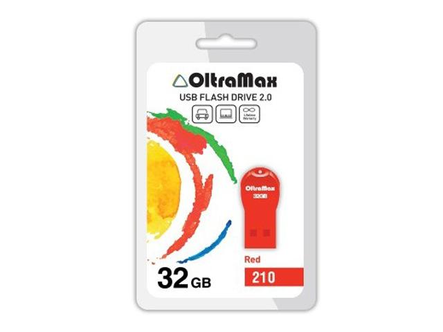 USB Flash Drive OltraMax 210 32GB Red