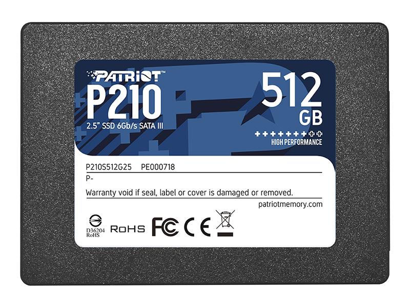 Твердотельный накопитель Patriot Memory P210S512G25