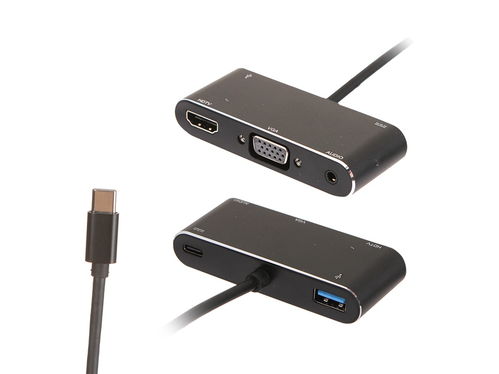 Аксессуар ATcom Type-C - HDMI/VGA/USB 10cm AT2810