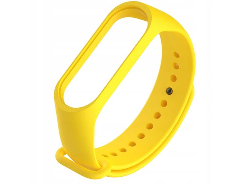 Aксессуар Ремешок Activ для Xiaomi Mi Band 3 / 4 Silicone Yellow 103176