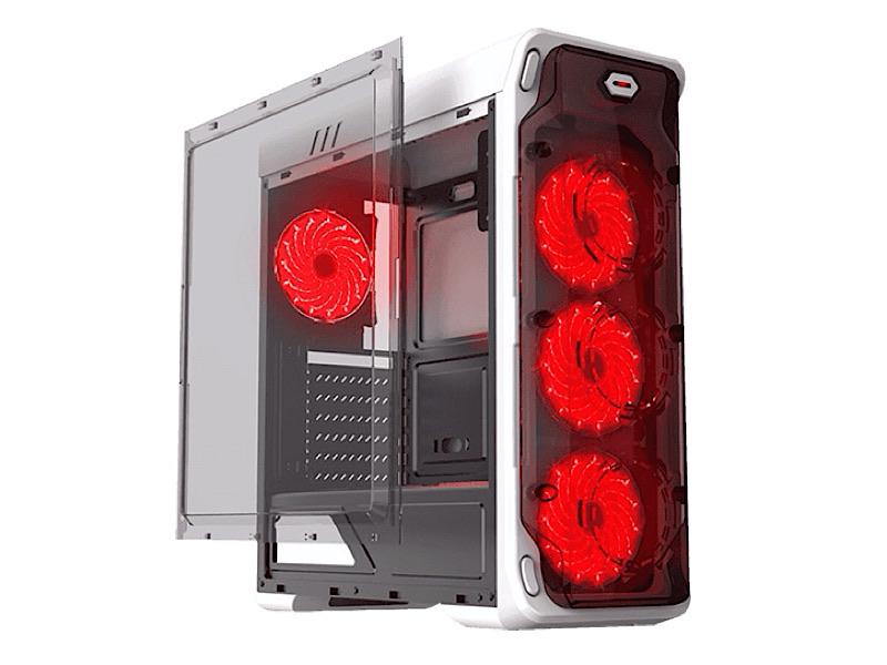Корпус GameMax StarLight-W-Red без БП