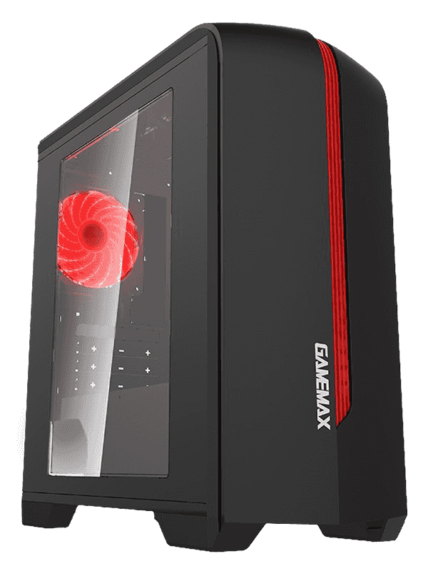 Корпус GameMax H601 BR Red LED без БП