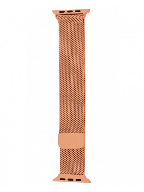 Аксессуар Ремешок Krutoff Milanese для Apple Watch G4 42/44mm Orange 03297
