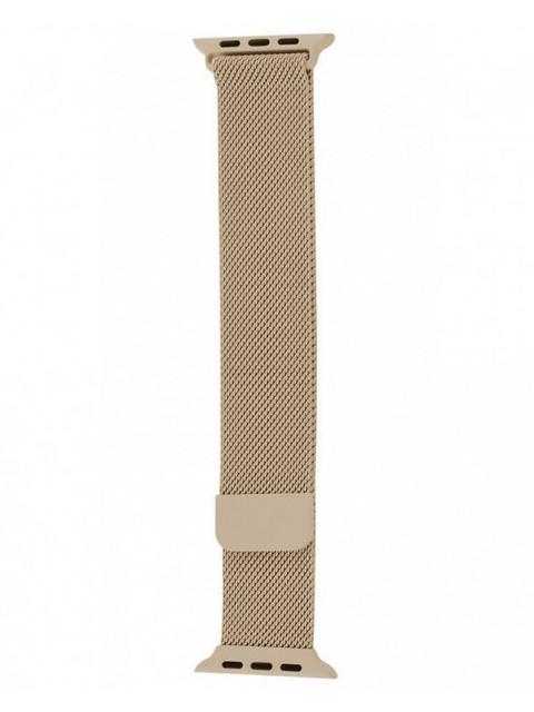 Аксессуар Ремешок Krutoff Milanese для Apple Watch G5 42/44mm Gold 03298