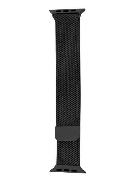 Аксессуар Ремешок Krutoff Milanese для Apple Watch 1 42/44mm Black 03310