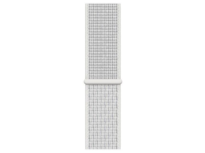 Аксессуар Ремешок Krutoff Nylon для Apple Watch 37 38/40mm Reflective White 03356