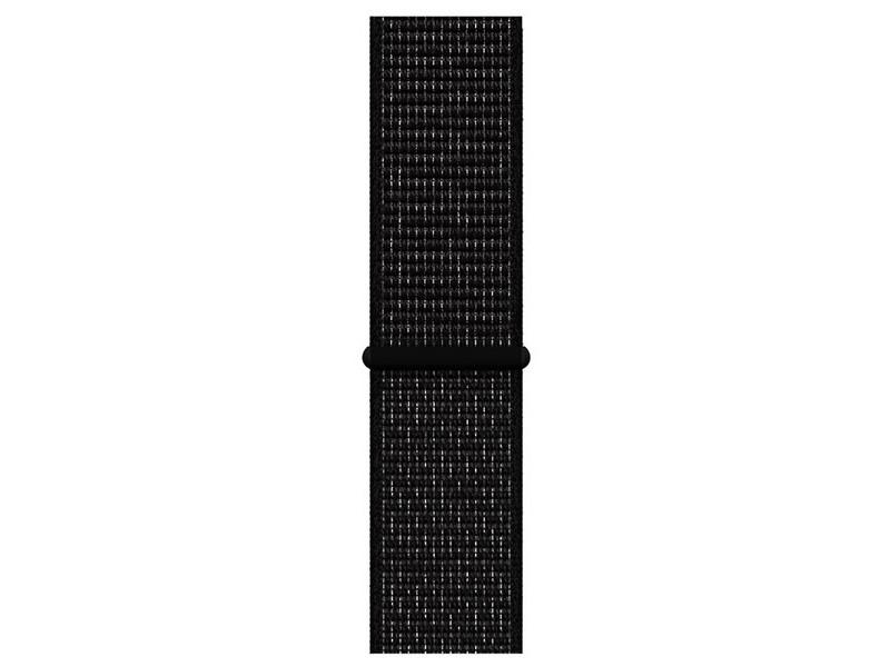 Аксессуар Ремешок Krutoff Nylon для Apple Watch 46 38/40mm Black 03358