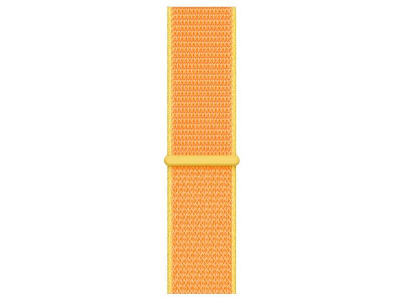 Аксессуар Ремешок Krutoff Nylon для Apple Watch 11 38/40mm Yellow 03590