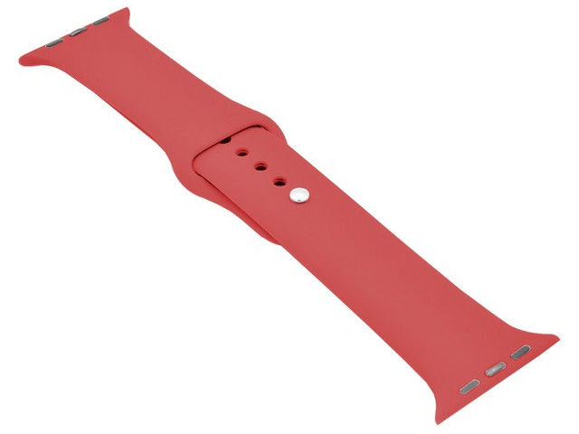 Аксессуар Ремешок Krutoff для APPLE Watch 42/44mm Silicone Red 03142