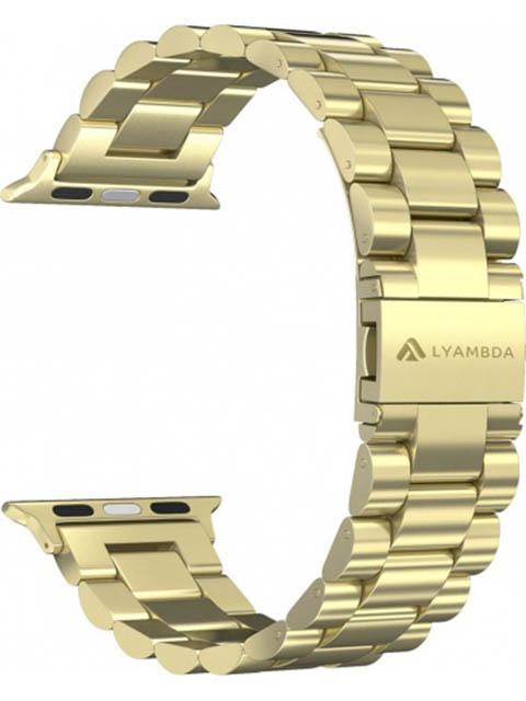 Фото - Аксессуар Ремешок Lyambda для APPLE Watch 38/40mm Keid Gold DS-APG-02-40-GL аксессуар ремешок activ metal со стразами для apple watch 38 40mm gold 98950