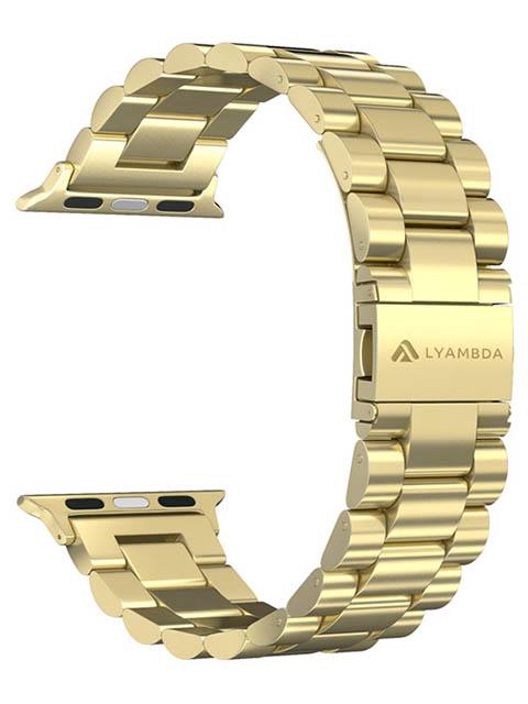 Аксессуар Ремешок Lyambda для APPLE Watch 42/44mm Keid Gold DS-APG-02-44-GL ремешок lyambda keid для apple watch ds apg 02 44 sl серебристый