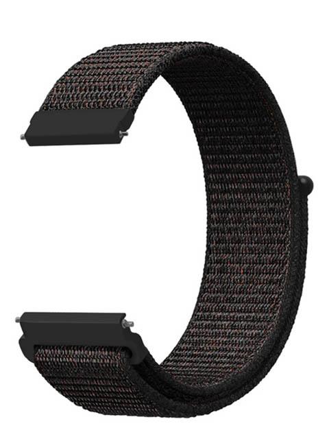 Аксессуар Универсальный нейлоновый ремешок Lyambda 22mm Vega Black DS-GN-03-22-BK