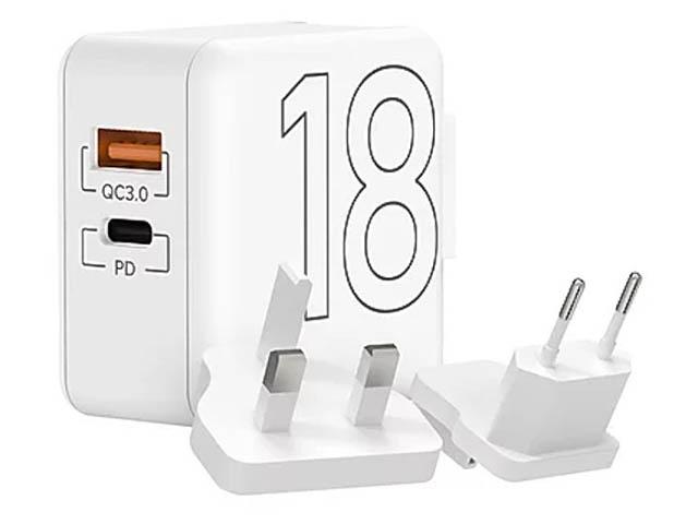 Зарядное устройство Lyambda 2xUSB 18W PD+QC3.0 LT18-WT зарядное