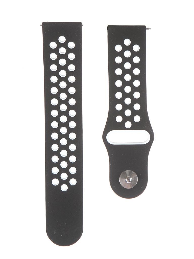 Аксессуар Ремешок Lyambda для APPLE Watch 22mm Silicone Alioth Black-White DS-GS-03-22-WB