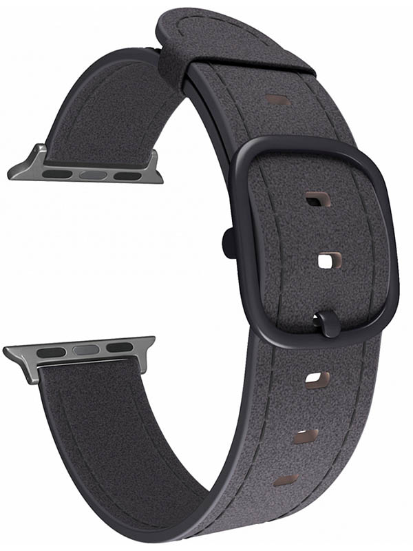 Аксессуар Ремешок Lyambda Leather для APPLE Watch 38/40mm Minkar Black DSP-03-40
