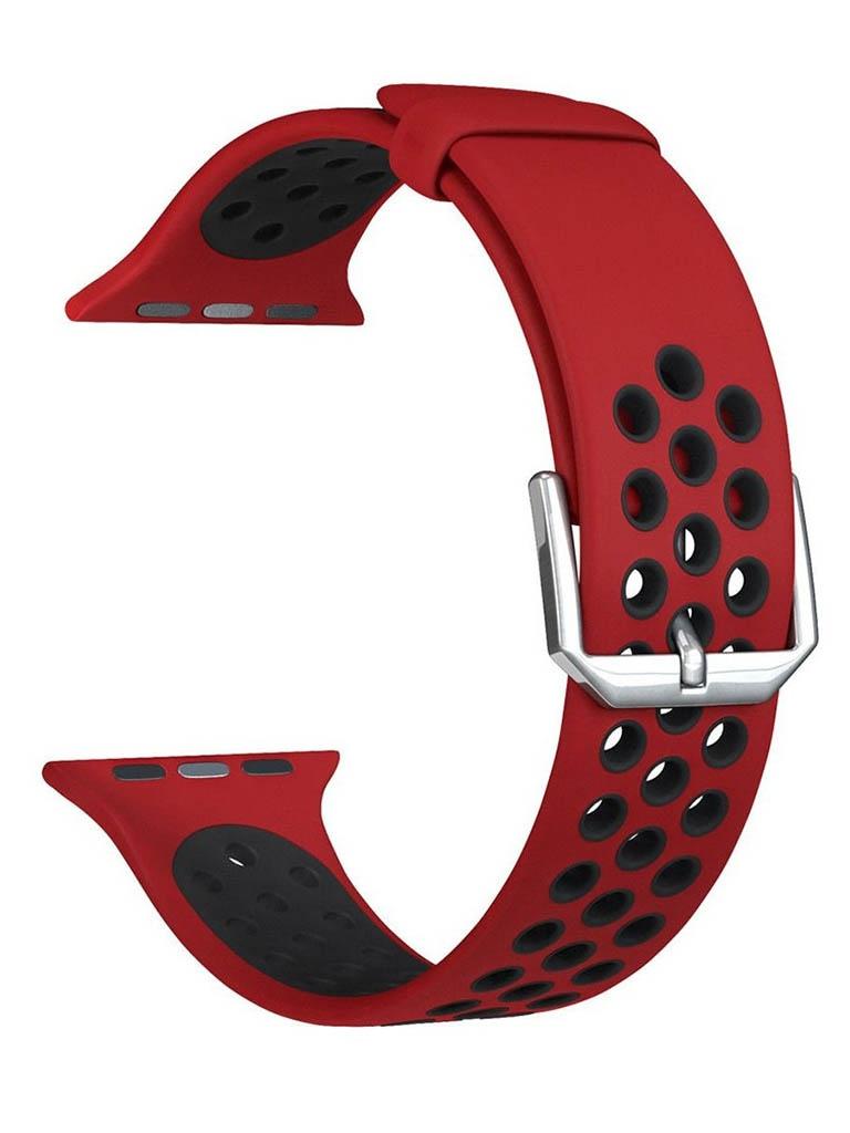 Аксессуар Ремешок Lyambda для APPLE Watch 38/40mm Alioth Red-Black DS-APS01-21-40-RB аксессуар ремешок lyambda для apple watch 42 44mm alioth black yellow ds aps01 21 44 yl