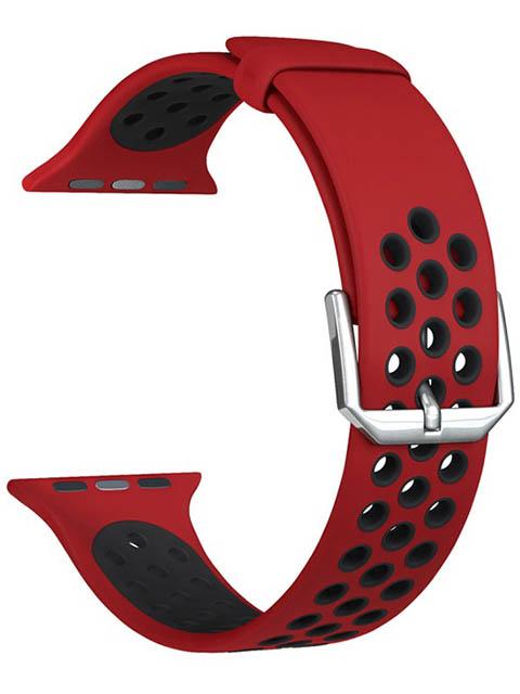 Аксессуар Ремешок Lyambda для APPLE Watch 42/44mm Alioth Red-Black DS-APS01-21-44-RB аксессуар ремешок lyambda для apple watch 42 44mm alioth black yellow ds aps01 21 44 yl