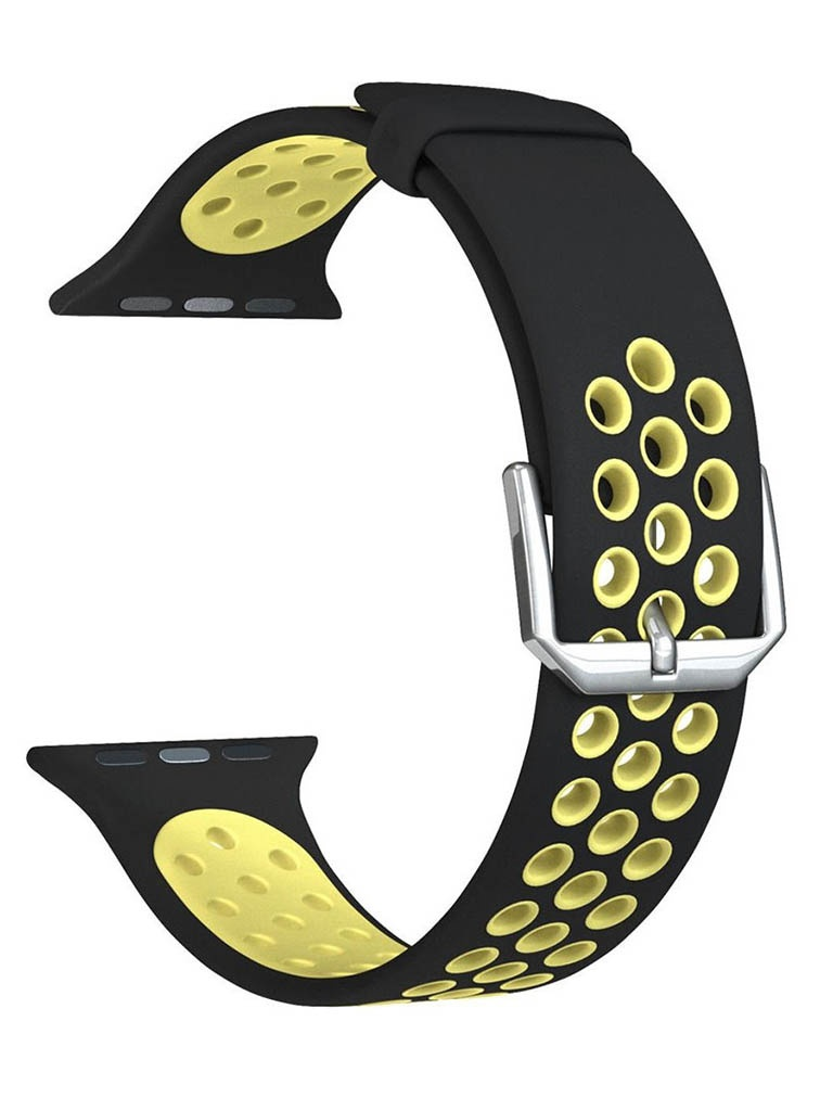 Аксессуар Ремешок Lyambda для APPLE Watch 42/44mm Alioth Black-Yellow DS-APS01-21-44-YL аксессуар ремешок lyambda для apple watch 42 44mm alioth black yellow ds aps01 21 44 yl